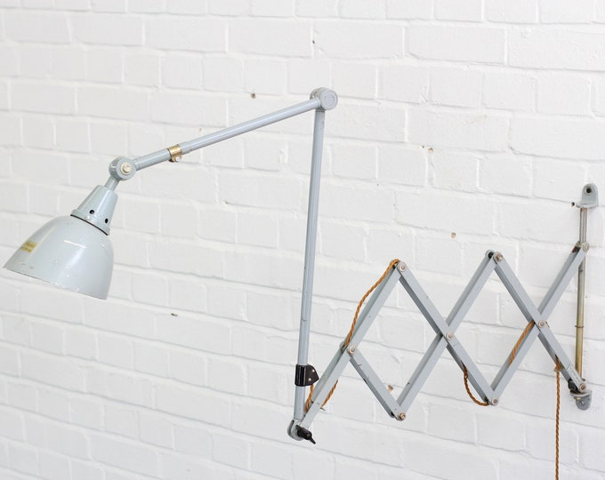 Large Wall Mounted Scissor Lamp By Midgard Circa 1960s