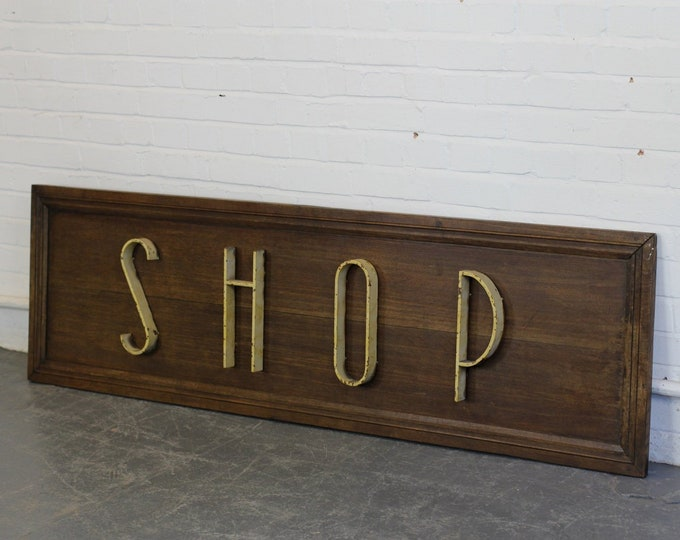 Art Deco Shop Sign Circa 1920s