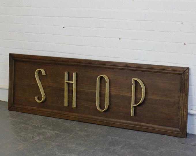 Art Deco Shop Sign Circa 1920s
