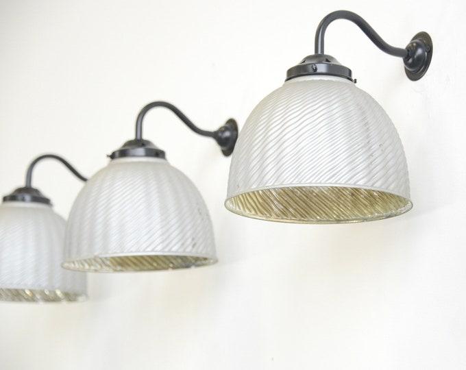 Large Wall Mounted Mercury Glass Lights Circa 1930s