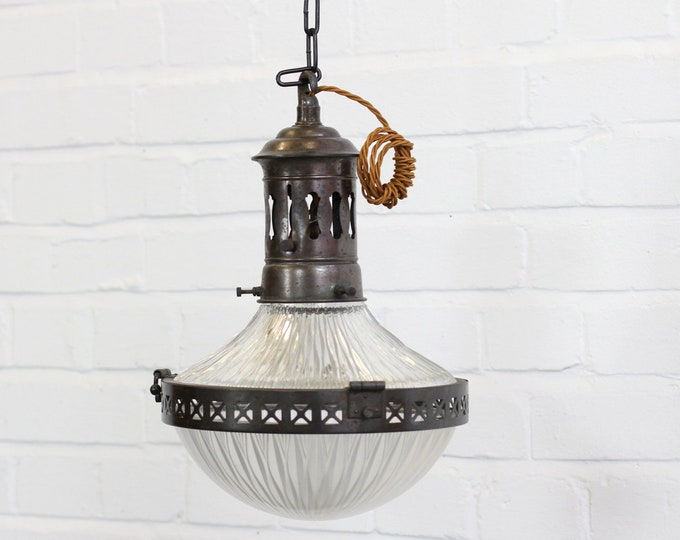 Holophane Pendant Light Circa 1910