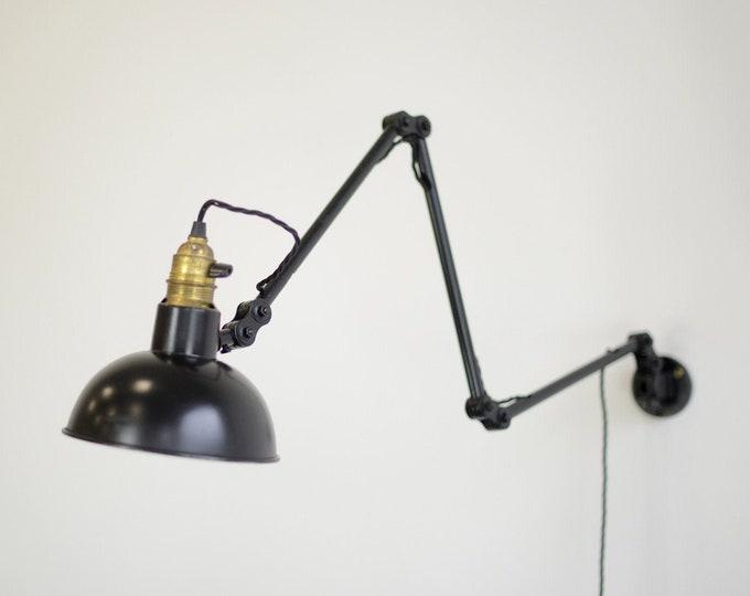 Wall Mounted German Task Lamp Circa 1940s
