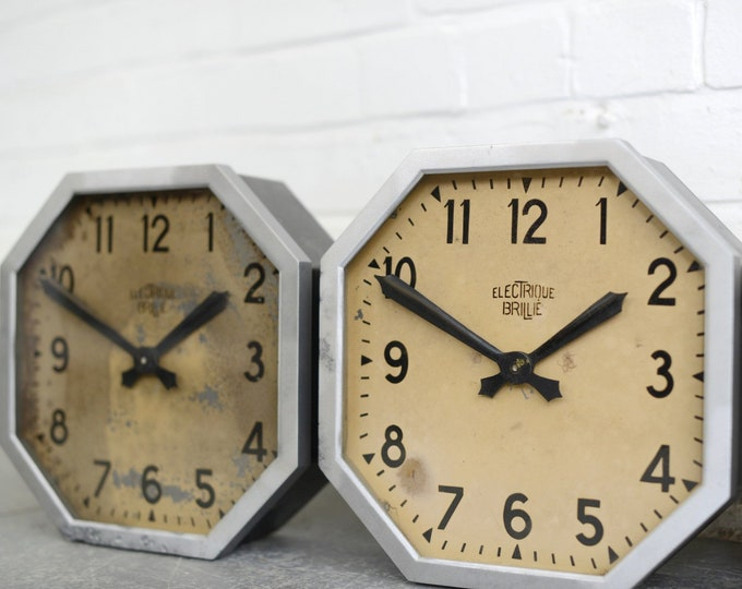 French Factory Clocks By Brillie Circa 1920s