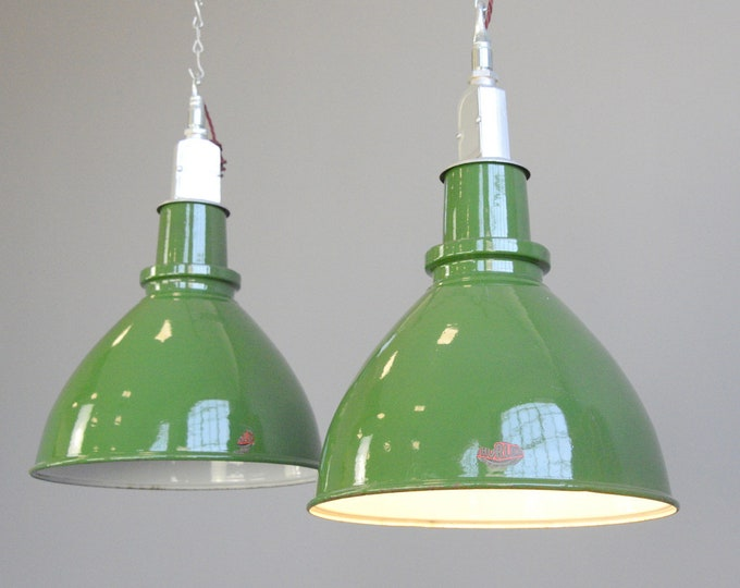 Factory Pendant Lights By Thorlux Circa 1950s