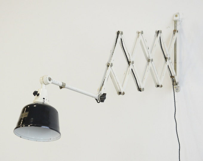 XL Wall Mounted Scissor Lamp By Midgard Circa 1940s