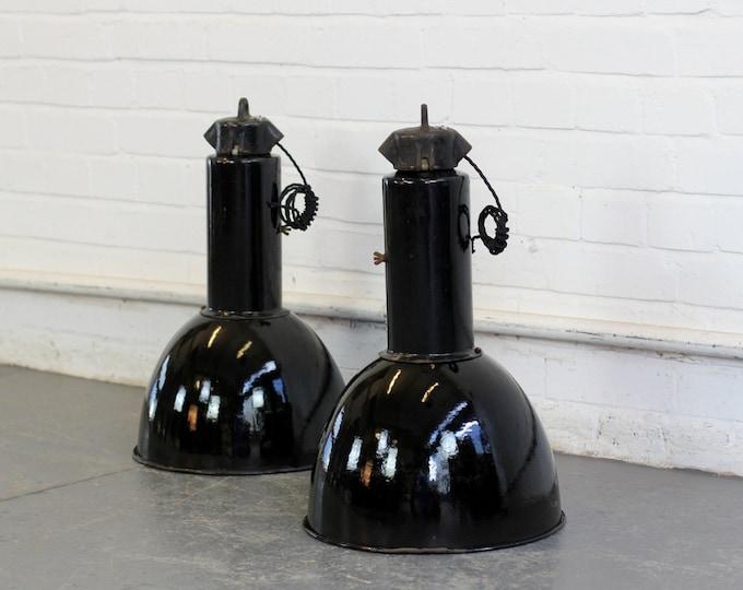 Bauhaus Industrial Pendant lights Circa 1930s