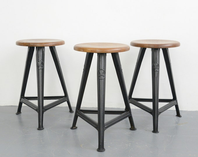 Industrial Factory Stools By Rowac Circa 1920s