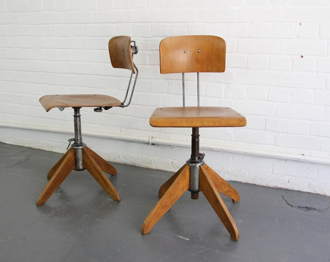 Industrial Work Stools By Robert Wagner For Rowac Circa 1940s