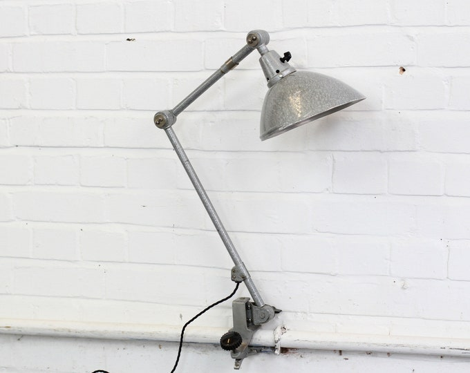 Clamp On Architects Lamp By Midgard Circa 1950s