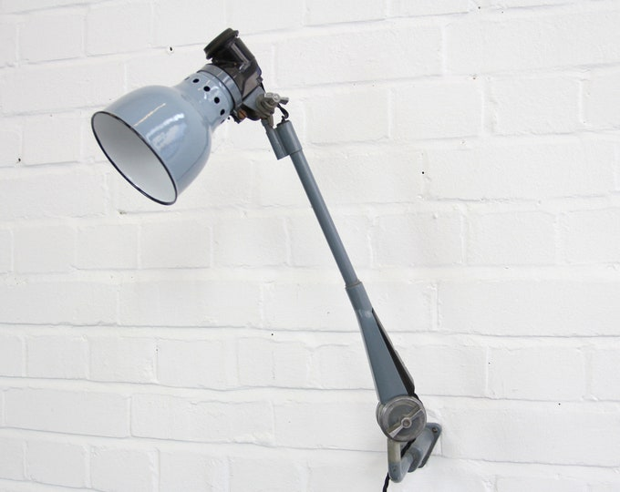 Wall Mounted Industrial Lamp By Ernst Rademacher Circa 1930s