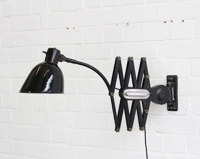 Large German Industrial Scissor Lamp By Schaco Circa 1930s