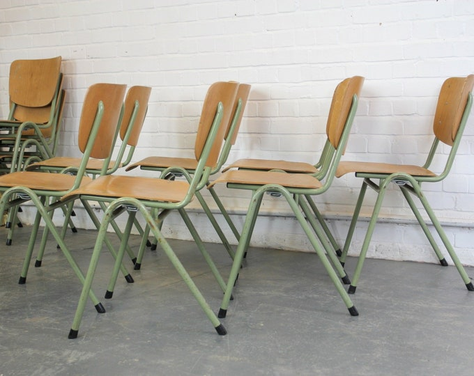 Dutch Stacking School Chairs Circa 1960s