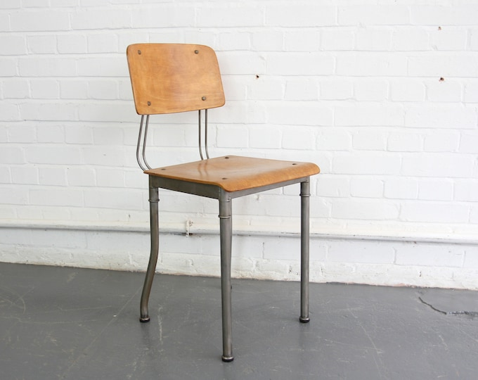 Modernist Robert Wagner Rowac Prototype Industrial Chair Circa 1920s