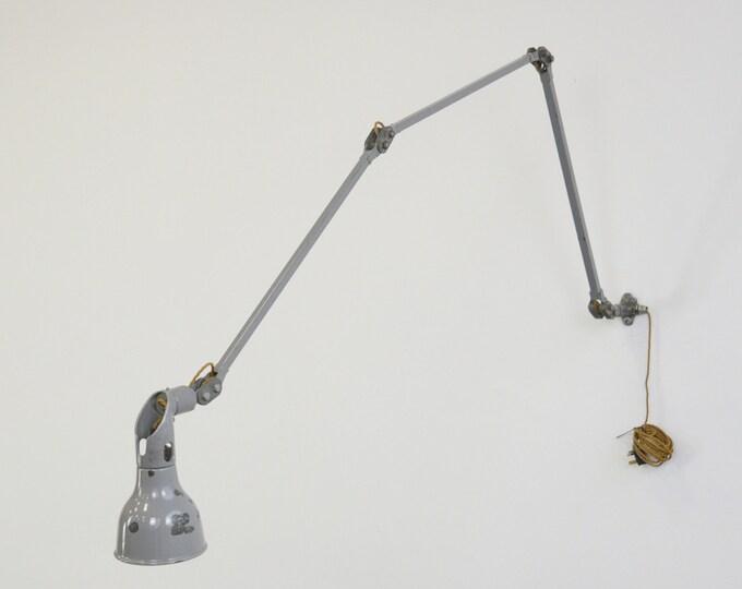 Large Industrial Task Lamp By Mek Elek Circa 1950s