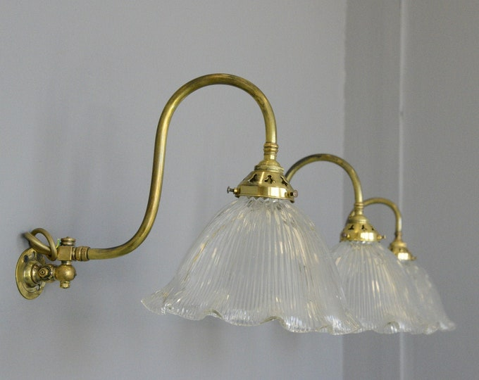 Articulated Wall Sconces By Holophane Circa 1910