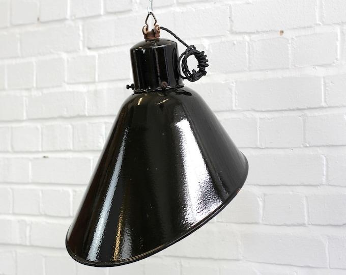 Angled Bauhaus Industrial Pendant Light Circa 1920s
