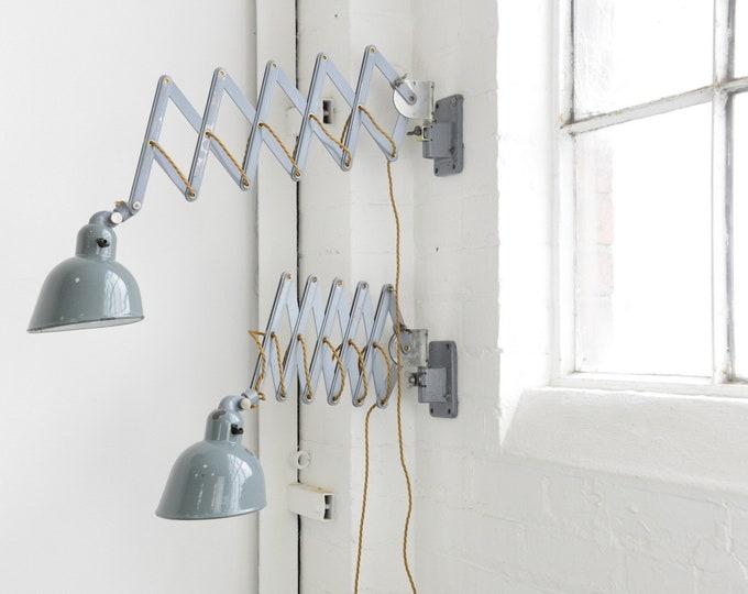 Wall Mounted Industrial Scissor Lamps By Siemens