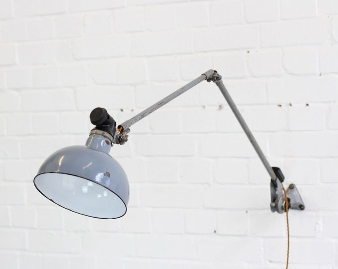 Large Wall Mounted Industrial Lamp By Ernst Rademacher Circa 1930s