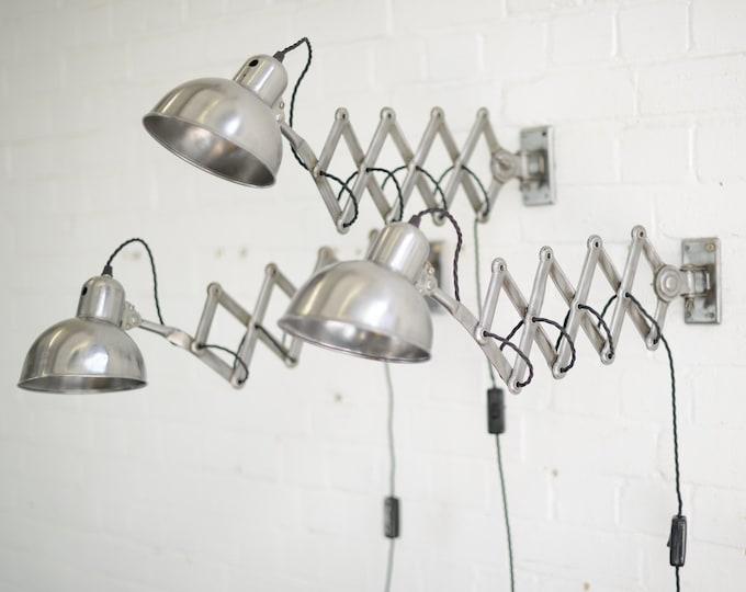 Model 6718 Kaiser Idell Scissor Lamps Circa 1940s