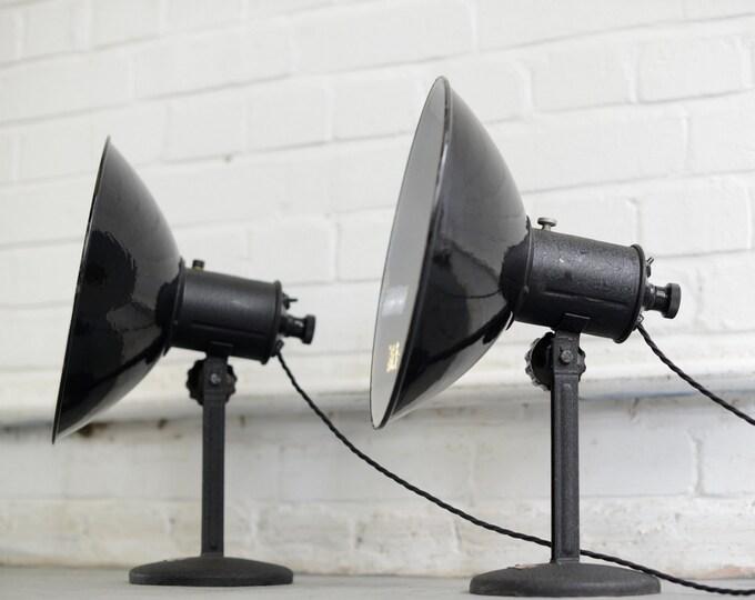 German Industrial Lamps Circa 1950s