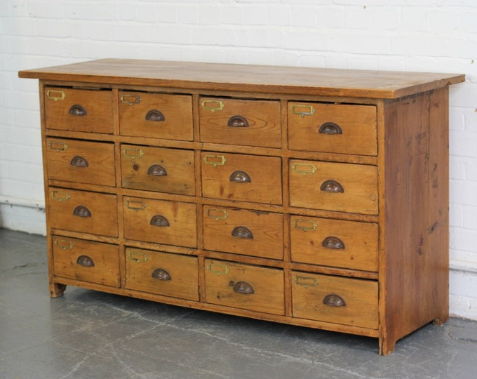 Bank Of 19th Century Pine Haberdashery Drawers