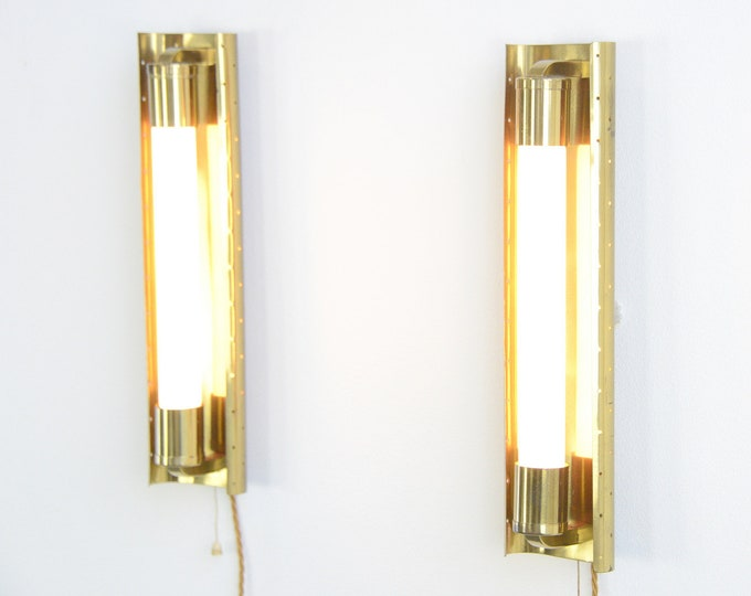 Brass Cinema Wall Lights Circa 1950s