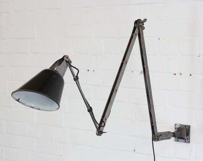 Wall Mounted Industrial Lamp By Walligraph Circa 1930s