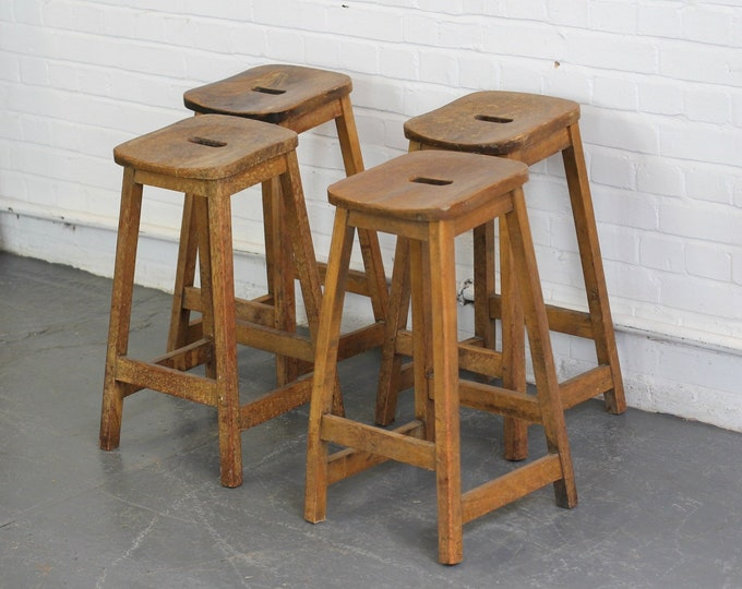 Elm Machinists Stools Circa 1950s