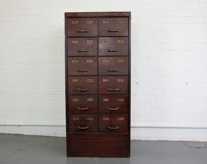 American Faux Wood Sewing Drawers Circa 1910