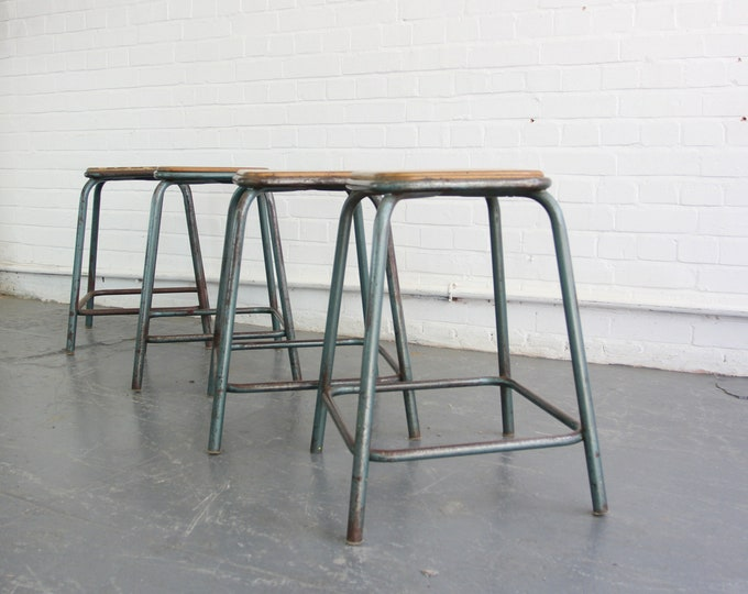 Stacking French Industrial Stools Circa 1950s