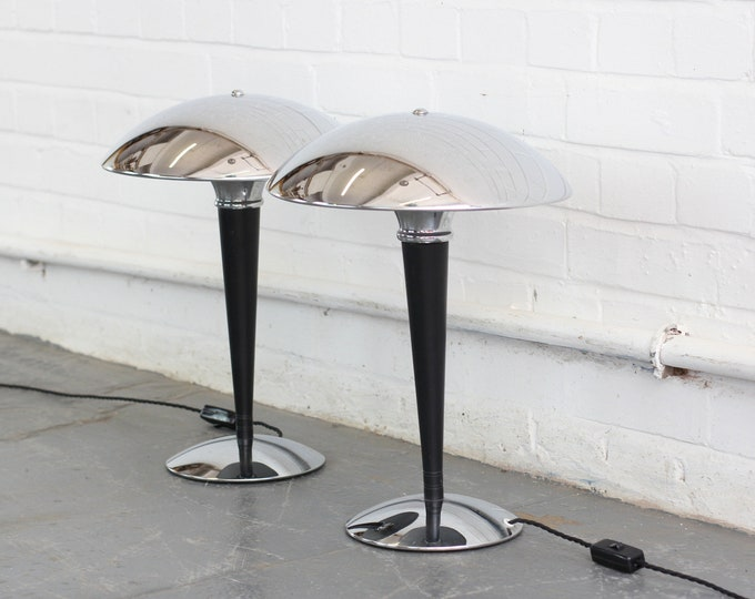 A Pair Of German Space Age Table Lamps Circa 1970s