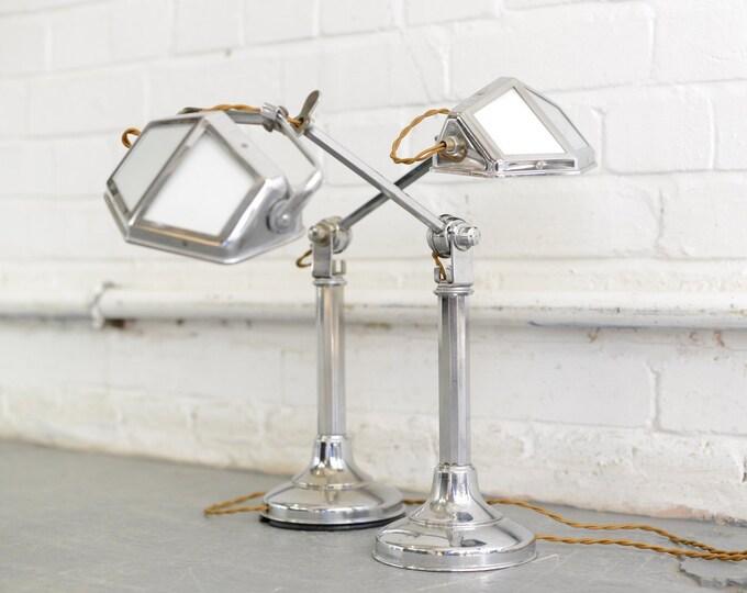Art Deco Desk Lamps By Pirouette Circa 1930