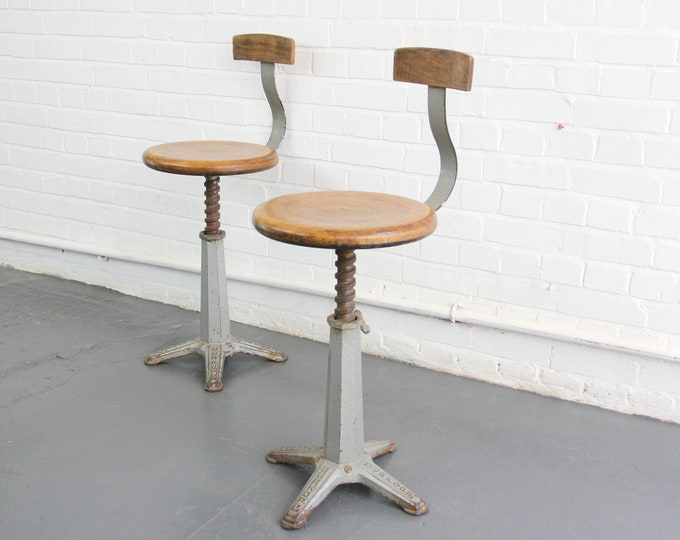 Rare Industrial Sewing Chairs By Durkopp Circa 1910