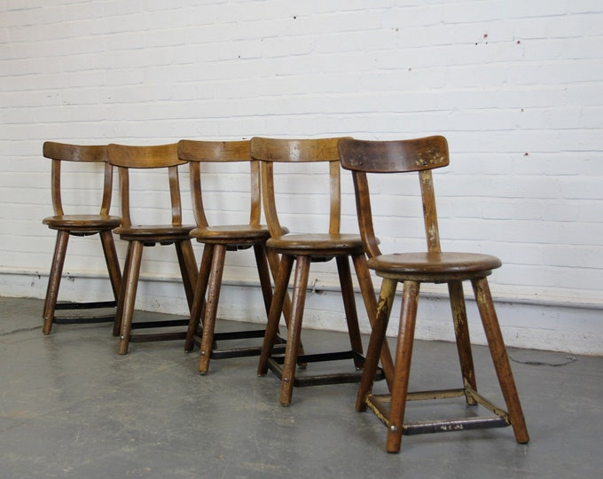 Early 20th Century German Factory Chairs By Ama