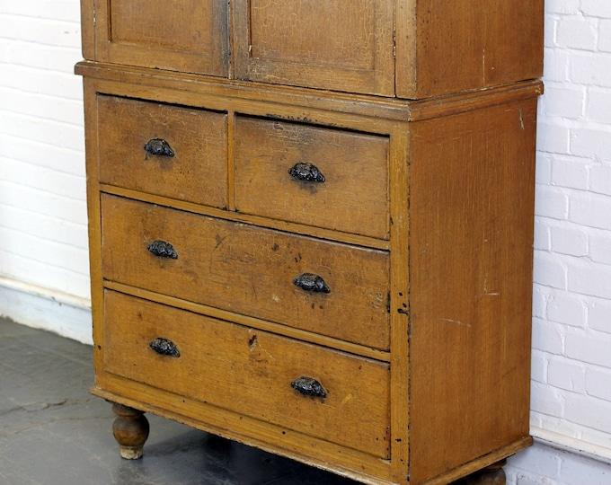 19th Century English Linen Cabinet Circa 1870