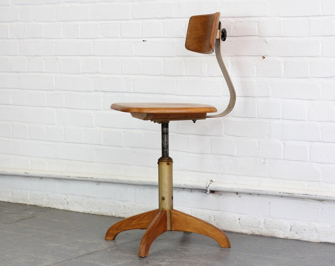 Ergonomic Work Chair By Ama Elastik Circa 1930s