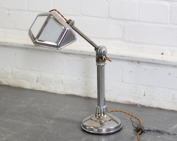 Art Deco Desk Lamp By Pirouette Circa 1920s