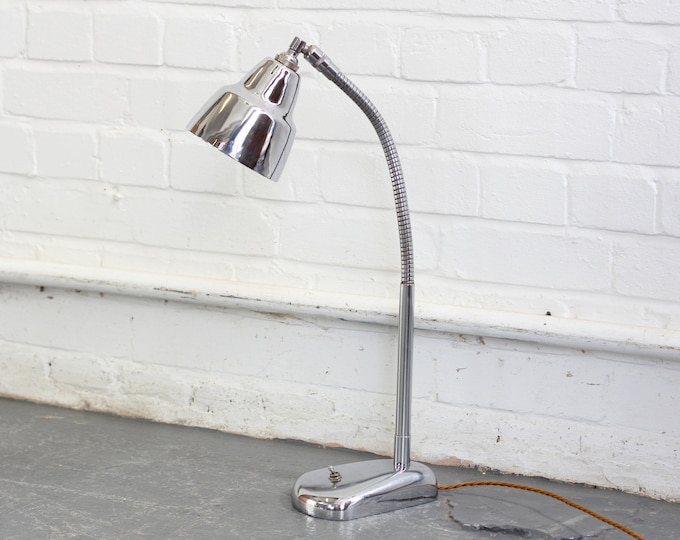 Nickel Desk Lamp By Jumo Circa 1940s