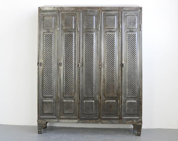 German Industrial Lockers By Kuppersbusch Circa 1920s