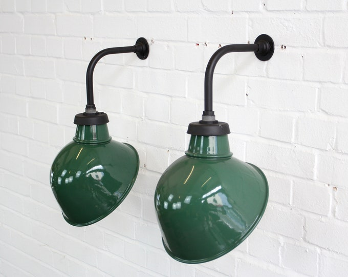 Wall Mounted Industrial Lamps By Crossland Circa 1950s