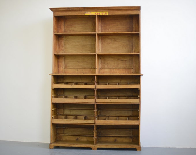 French Hardware Store Cabinet Circa 1930s