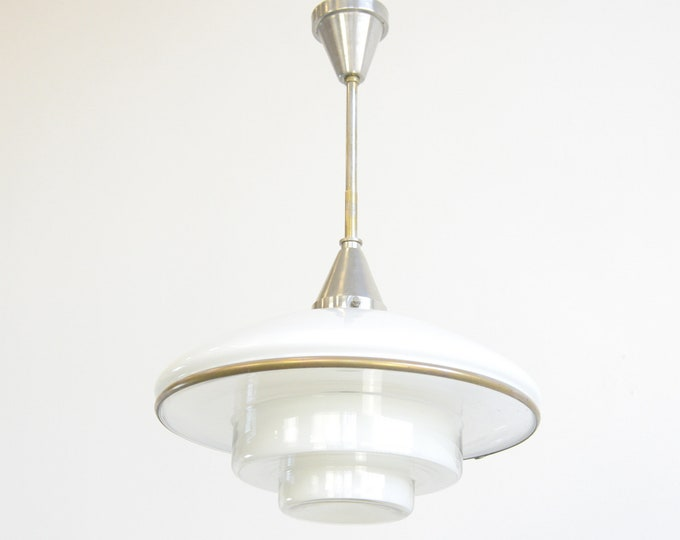 Large Sistrah Pendant Light By Otto Muller 1930s
