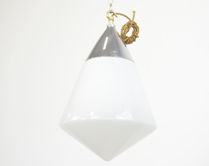 Teardrop Bauhaus Opaline Light By Siemens Circa 1930s
