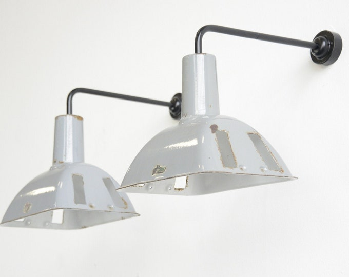 Industrial Wall Lights By Benjamin Circa 1950s