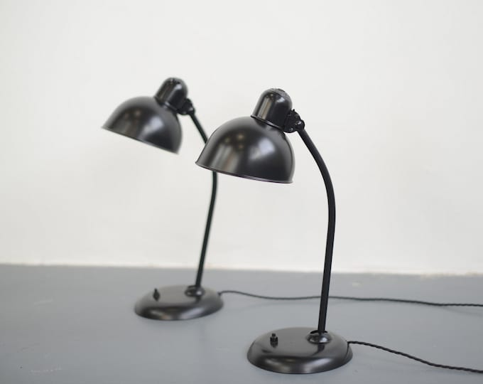 Model 6556 Kaiser Idell Table lamps Circa 1930s