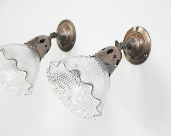 Wall Sconces By Holophane Circa 1910