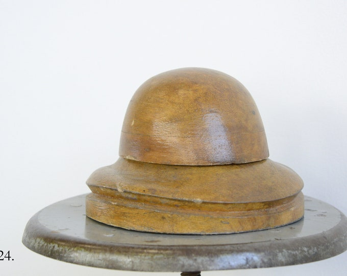 Wooden Factory Hat Form Circa 1930s
