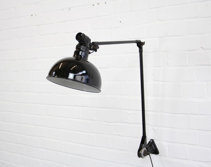 Large Industrial Task Lamp By Ernst Rademacher Circa 1930s