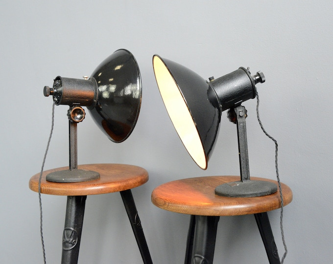 German Industrial Lamps Circa 1950s