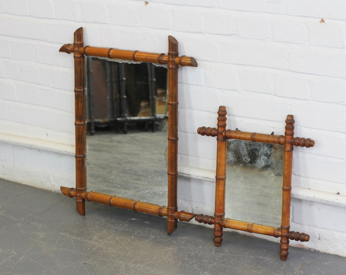 A Pair Of Faux Bamboo Mirrors Circa 1900